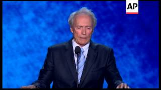 clint eastwood whipped up the crowd at the republican national convention ahead of gop presidential