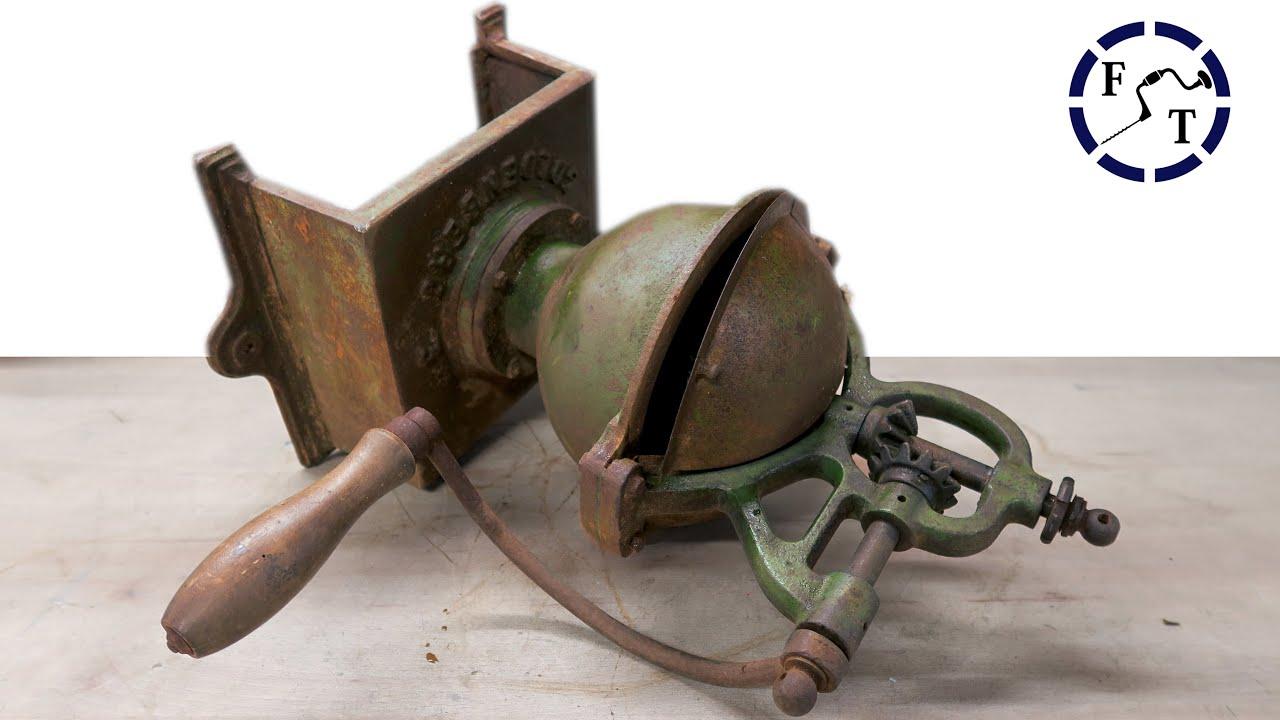 GIANT Antique Coffee Grinder Restoration