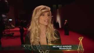 Michelle Hunziker im Interview - Goldene Kamera 2014