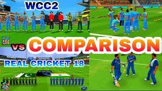 Real Cricket 18 VS WCC2 - COMPARISON
