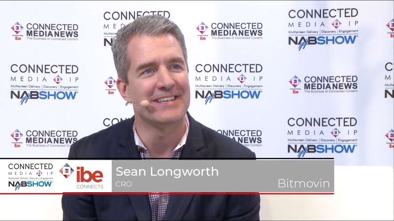Sean Longworth of Bitmovin speaking with Maria Ingold @ NAB Show 2018