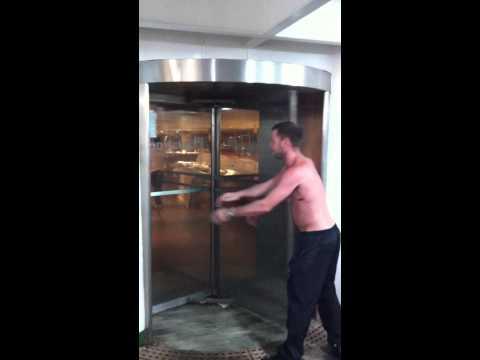 Revolving door trick