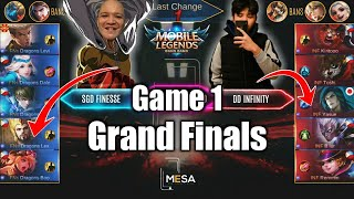 Game1 SGD Finesse VS DD Infinity | MESA Tournament S3