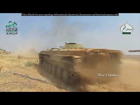 Syrian civil war : FSA Firefights Against ISIS in Aleppo