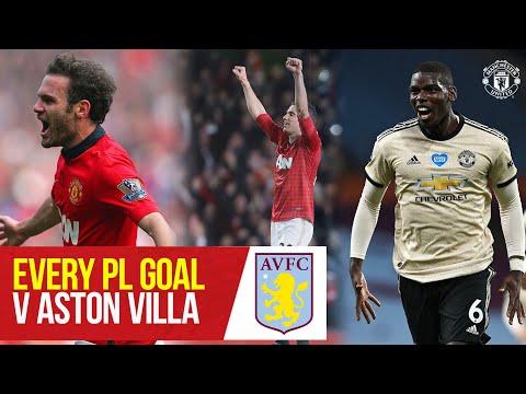 Manchester United | Every Premier League Goal v Aston Villa | Ronaldo, Rooney, Solskjaer, Fernandes