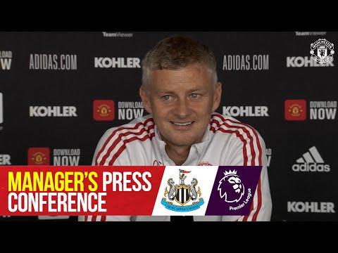 Manager's press conference |  Manchester United v Newcastle United |  Ole Gunnar Solskjaer