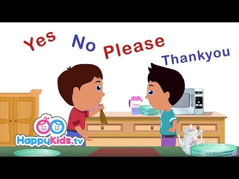 Yes, No, Please And Thank You - Learning Songs Collection For Kids And Children   Happy Kids