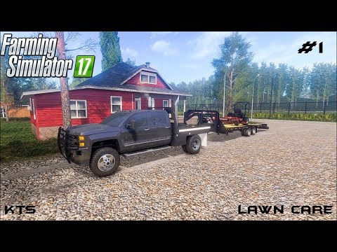 Mowing grass | Lawn Care | Farming Simulator 2017 | Episode 1 thumbnail