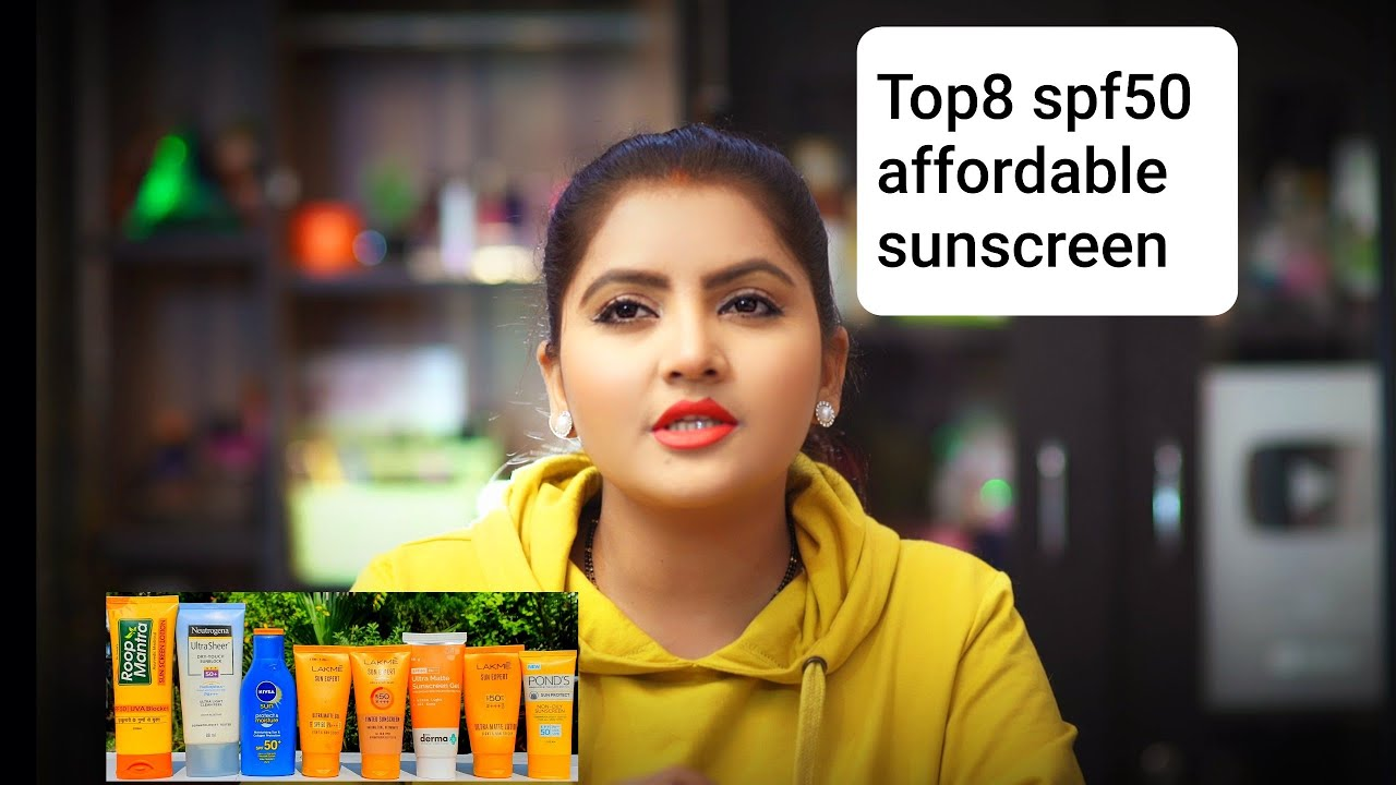 Top8 SPF50 affordable Sunscreen for all skin type | RARA | sun expert