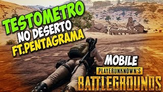 PUBG MOBILE - TESTOMETRO NO NOVO MAPA DO DESERTO