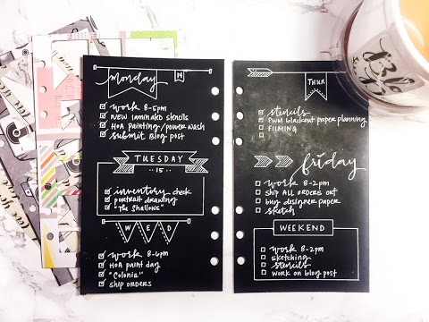 PWM Bullet Journal Blackout Paper Planning