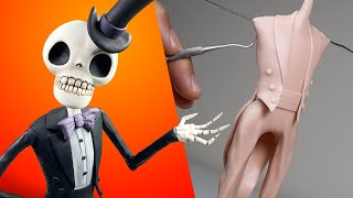 How to Make a DAPPER SKELETON! + SCULPTING KIT REVEAL! Polymer Clay Tutorial | Ace of Clay