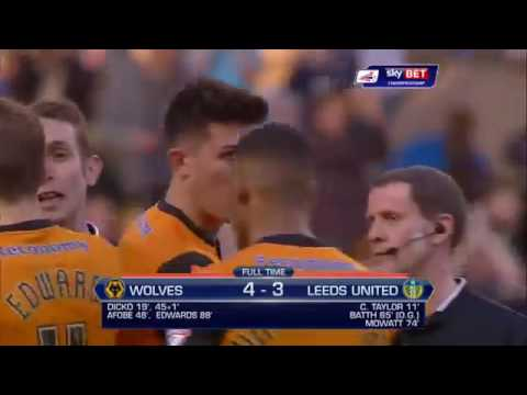 Minute Highlights: Wolves 4 3 Leeds United