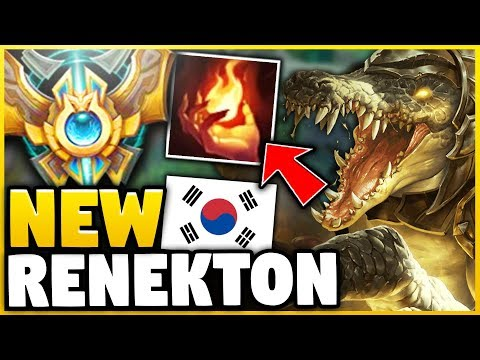 WTF! THIS RENEKTON BUILD HAS A 93% WINRATE IN CHALLENGER!?! (NEW OP STRATEGY) - League of Legends thumbnail