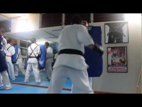 Kyokushinkai Costa Rica Black Belts Big Mitt Training