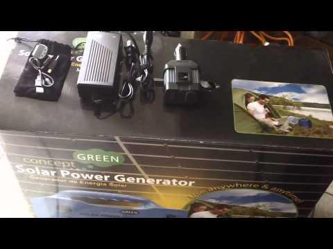 Prepper Power - Concept Green Solar Generator Review Vs. Harbor Freight 45 Watt Solar Kit