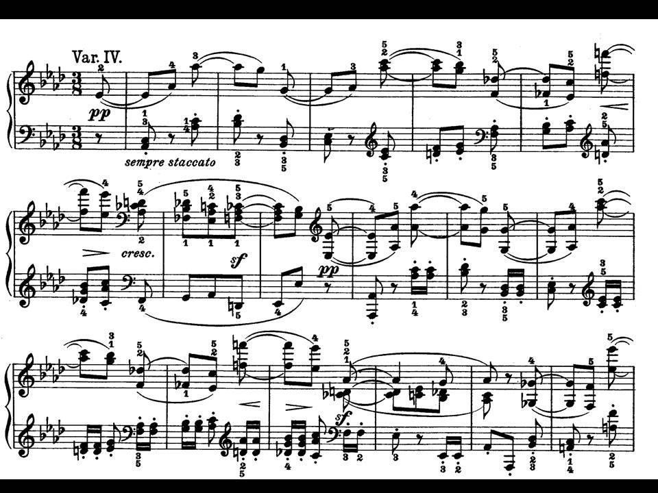 All Music Chords beethoven sheet music : Beethoven. Sonata para piano nº 12 Op.26 I-Andante con Variazioni ...