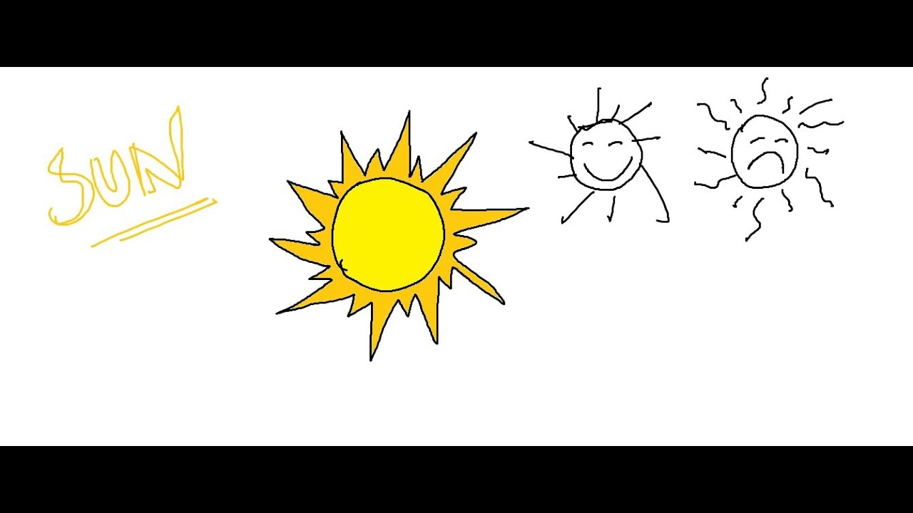 Easy kids drawing lessons how to draw a cartoon sun