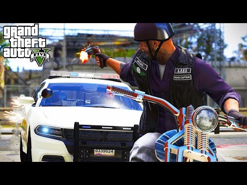 MOTORCYCLE CHASE GONE WRONG! (GTA 5 Roleplay)