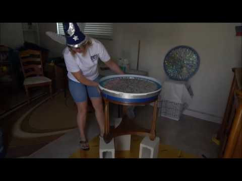 DIY Upcycle CD's & Glitter Table Top Resin pour - part 1