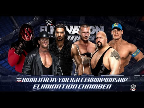 WWE 2K16- Randy Orton Vs Big Show Vs Cena Vs Undertaker Vs Kane Vs Roman Reigns Elimination Chamber