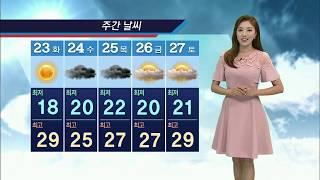 기상캐스터 윤수미의 6월 22일 날씨정보