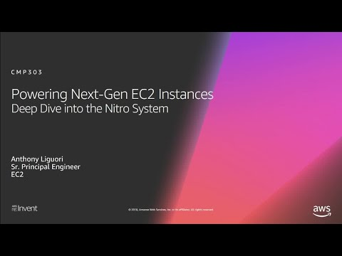 AWS re:Invent 2018: Powering Next-Gen EC2 Instances: Deep Dive into the Nitro System (CMP303-R1)