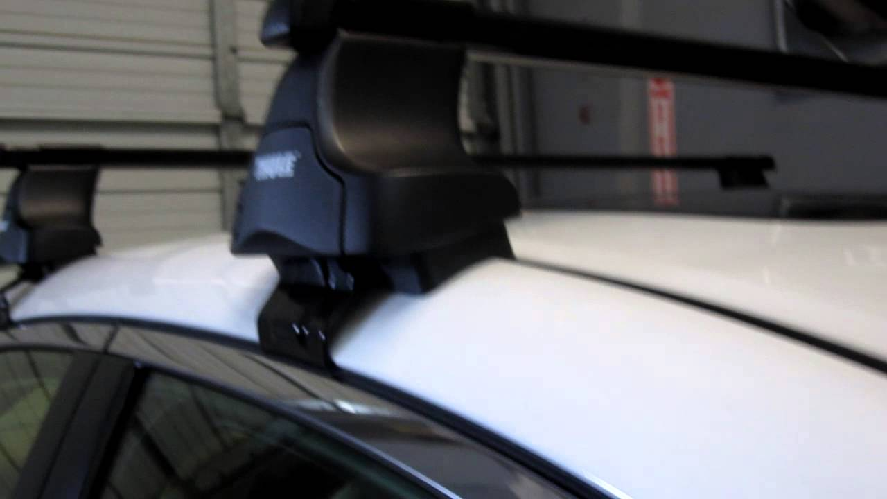 Acura TSX With Thule Traverse Square Bar Roof Rack By Rack - Acura tsx roof rack