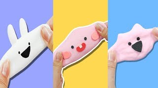 DIY)★3가지방법의 모찌스퀴시만들기★말랑말랑! 쫀득쫀득! 모찌스퀴시 만들기!! 키즈노리kidsnori