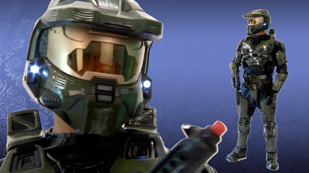 Halo Master Chief Costume - Collectoru0027s Edition & Halo Master Chief Costume - Collectoru0027s Edition - YouTube