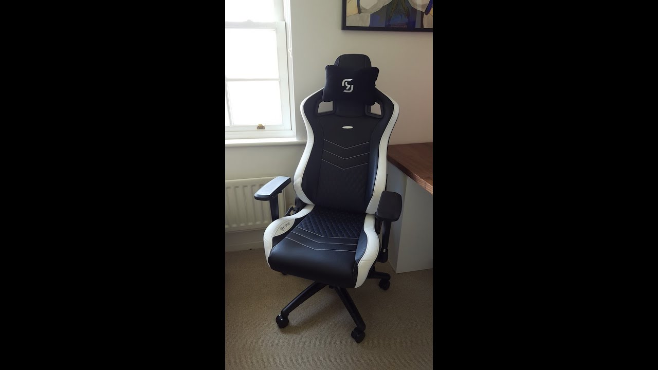 Noblechairs  Epic Gaming Chair BlackWhite  YouTube