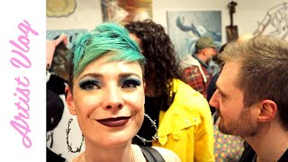 Artist Vlog #11   Studio CLEAN-OUT & Epic Exhibition Opening