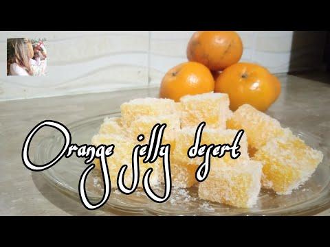 orange-jelly-dessert-|-no-bake-orange-dessert-recipe