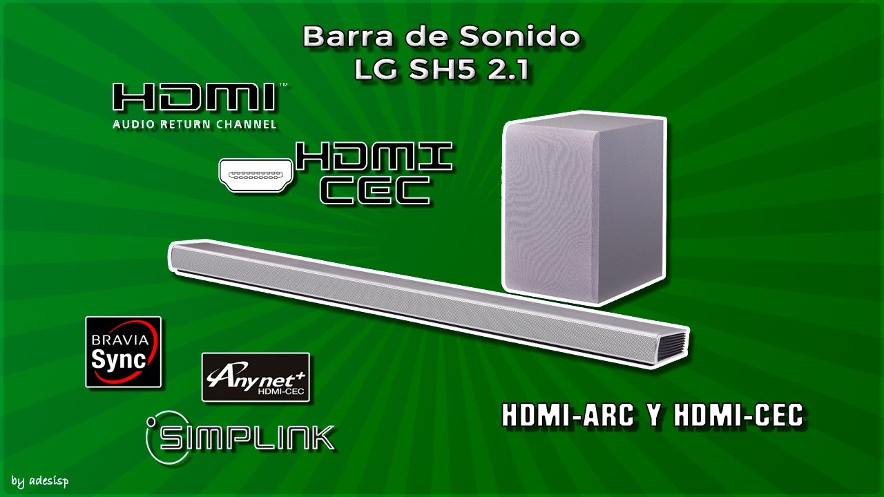 LG SH5 & HDMI-ARC testing  Firmware upgrade via Bluetooth  Spanish