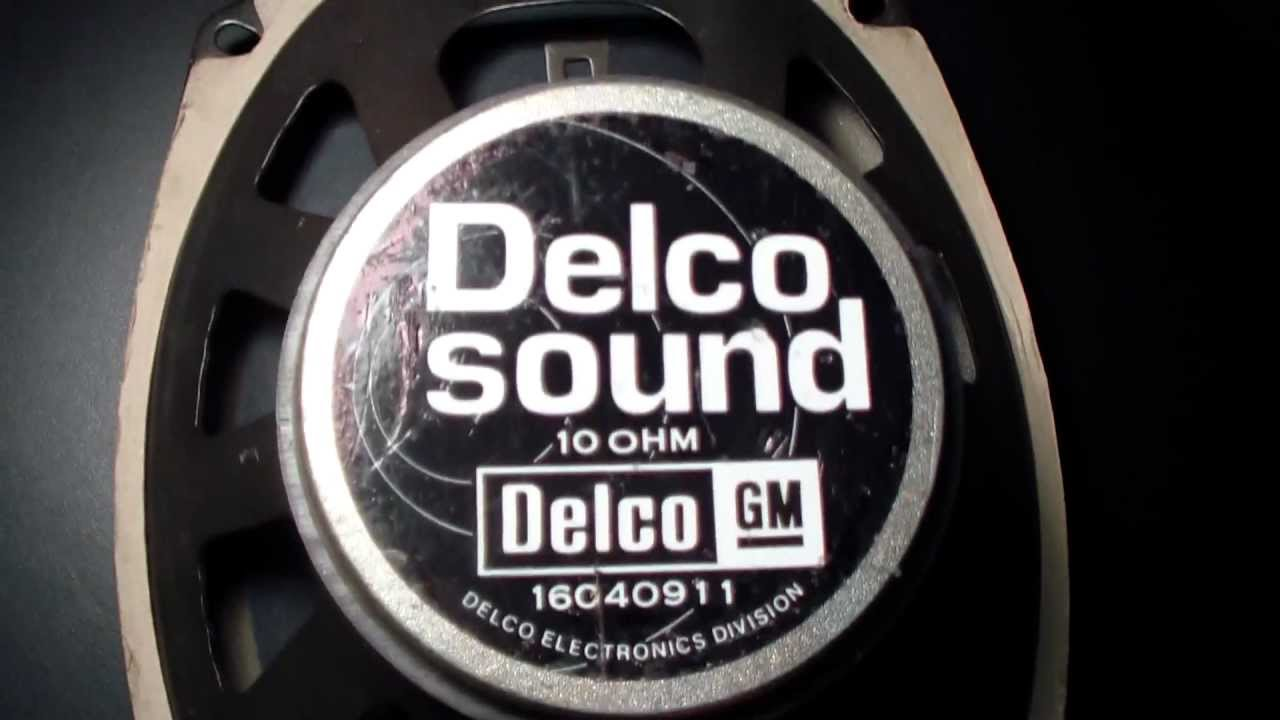 Vintage Delco Electronics 6 X 9 Inch Automotive Speaker