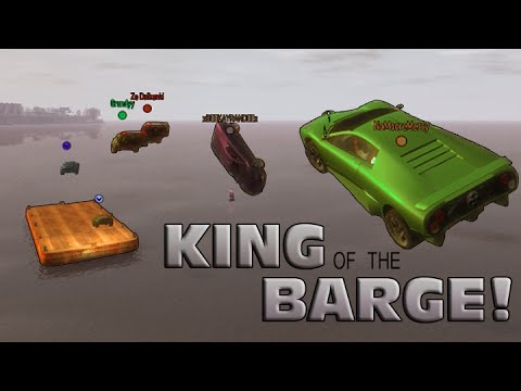 GTA IV - PC - King of the Barge + Group Stunt!, Multi-view!