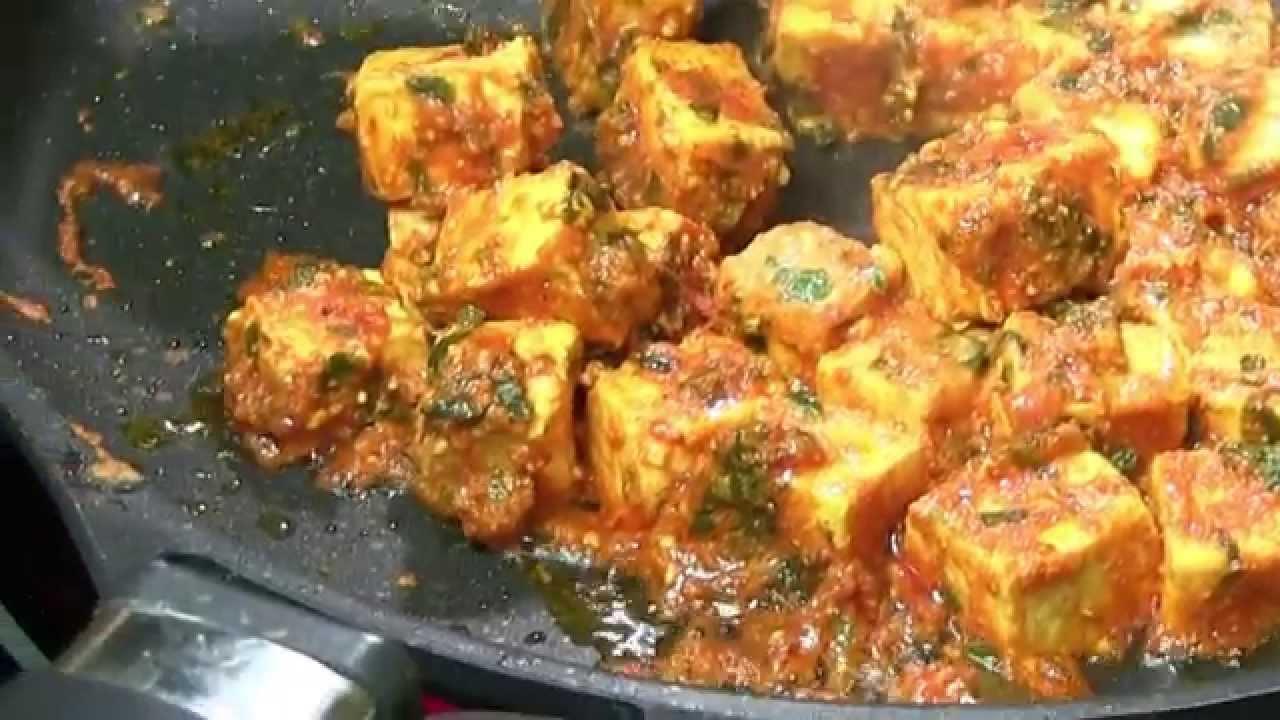 Tawa Paneer Masala Recipe Video  Indian Cheese Curry