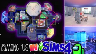 AMONG US in The Sims!? ✨ (Building THE SKELD in Sims 4!)