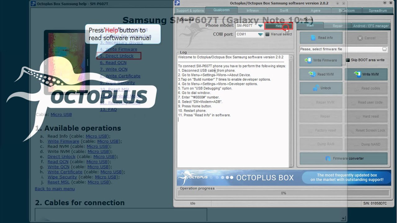 Octoplus/Octopus Box Samsung v 2 0 2 - world's 1st S6