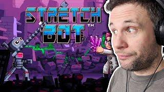 BOM JOGO DE PLATAFORMA - StretchBot (Gameplay em Português PT-BR) #stretchbot