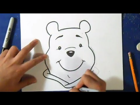 Comment dessiner winnie l 39 ourson youtube - Ourson dessin ...