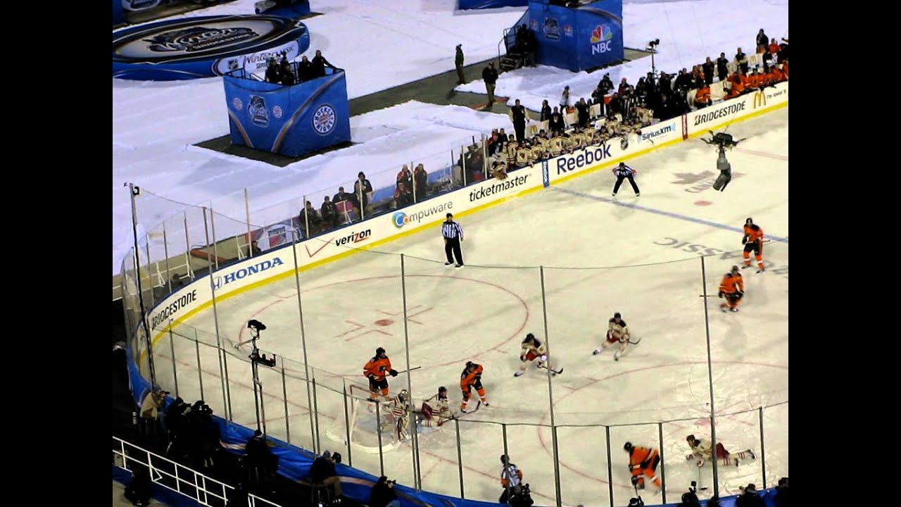 2012 Winter Classic - Lundqvist s HUGE save on Briere s penalty shot with  19.6 seconds left!! c1d1966a9