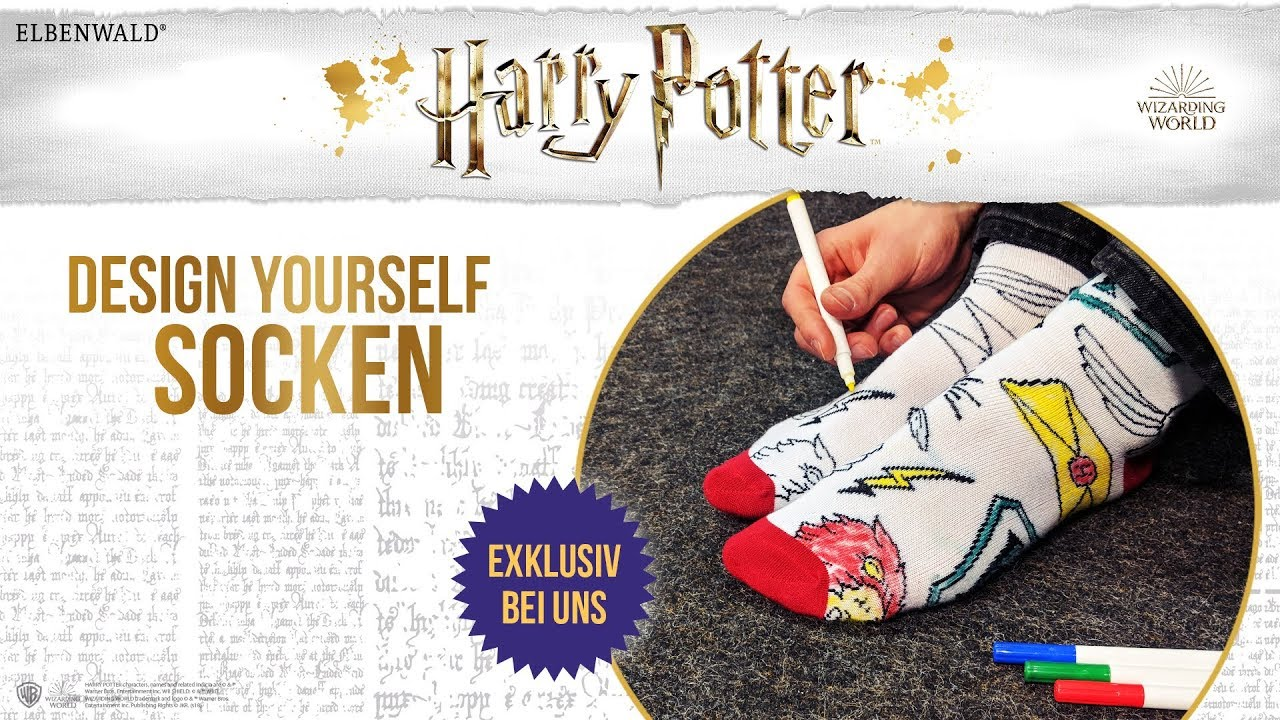 Harry Potter Design Yourself Socken