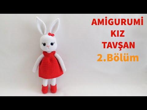 Amigurumi Örgü Kız Tavşan Yapımı / Kafa Ve Yüz Şekillendirme Yapılışı 2/4 (Gül Hanım)