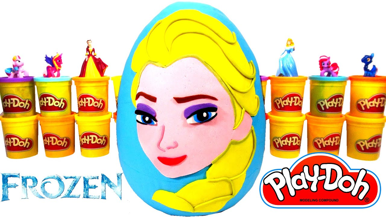 Español Huevo Gigante Sorpresa Juguetes Doh En Elsa Play De Frozen Plastilina WDY29EHI