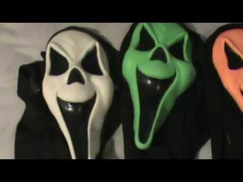Fearsome Faces Ghost Masks ( white green and Orange) - YouTube