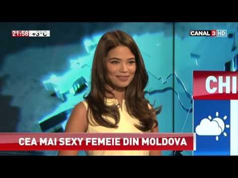 Prezentatoarea meteo de la Canal 3, desemnată drept cea mai sexy femeie din Moldova