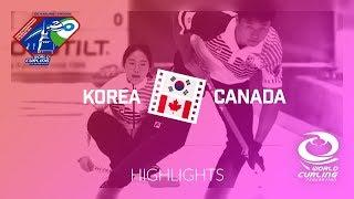 HIGHLIGHTS: Korea v Canada - World Mixed Doubles Curling Championship 2018