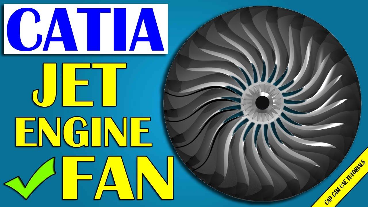 CATIA online training   jet engine fan   ventilateur d'un réacteur d'avion - YouTube