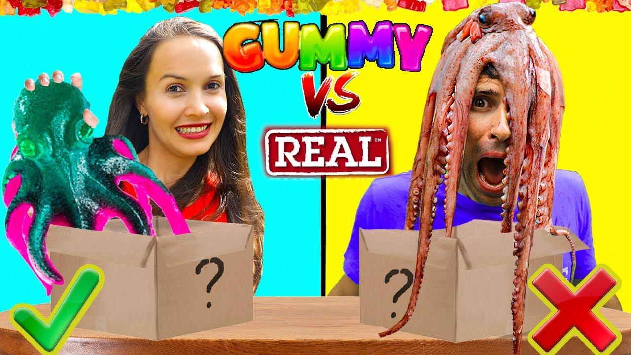गमी बनाम असली | Gummy Vs Real Food | Hindi Funny Video